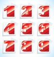 Number paper red tags vector image vector image