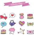 Object valentine day art vector image vector image