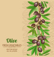 olive pattern vector image vector image