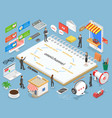 omnichannel flat isometric concept vector image vector image