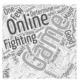 online fighting game Word Cloud Concept vector image vector image