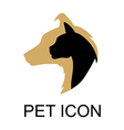 pet icon color vector image vector image