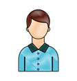 portrait man young character person cartoon vector image