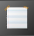 post note paper with shadow vector image vector image