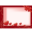 red card with hearts and flora vector image
