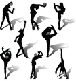 rhythmic gymnastics with ball vector image vector image