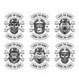 set biker emblems vector image vector image