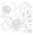 set filigree lace for design vector image