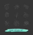 set of botany icons line style symbols with vector image vector image
