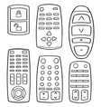 set of remote control vector image