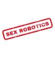 Sex Robotics Rubber Stamp vector image vector image