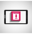smartphone technology download button vector image vector image