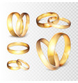 stock realistic gold wedding vector image
