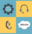 support call center set vector image vector image