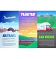 travel set vector image