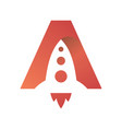 two dimensional rocket start icon symbol vector image