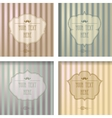 Vintage frame collection on a striped background vector image vector image