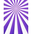 Violet and white rays abstract circus poster vector image vector image