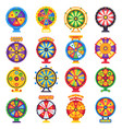 wheel fortune turning lucky spin game wheels vector image