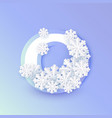 winter nine 9 number with snowflakes ice vector image
