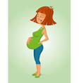 Pregnant woman in pain vector image