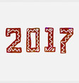 2017 grunge stamp new year sign vector image vector image