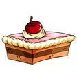 A delicious cake vector image vector image