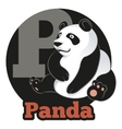 ABC Cartoon Panda vector image