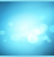 abstract blue effect background with bokeh vector image