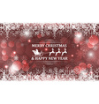 Abstract Christmas background Santa on sleigh with vector image vector image