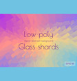 abstract polygonal background scattering shards of vector image vector image
