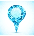 Abstract triangle blue map location pointer vector image vector image