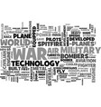 air power developments between the wars text word vector image vector image