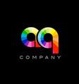 aq a q alphabet letter mosaic design vector image vector image