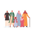 arab multi generation family in traditional vector image