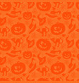art seamless pattern for happy halloween vector image vector image