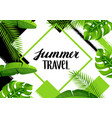 background with tropical palm leaves exotic vector image vector image