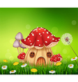 Beautiful home mushroom house vector image vector image