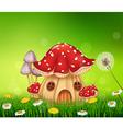 Beautiful home mushroom house vector image