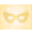 beautiful silhouette golden mask on the background vector image