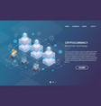blockchain network business template vector image vector image
