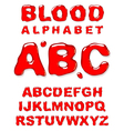 blood alphabet letters set vector image vector image