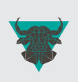 buffalo head icon geometric polygonal style vector image vector image