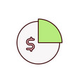 business icon graph budget vector image vector image