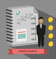 Business idea infographic with icons persons money vector image vector image