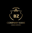 bz letter initial with royal luxury logo template vector image vector image