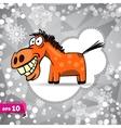 cartoon horse Symbol of 2014 Winter Backdrop vector image