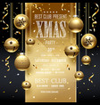 christmas party design golden vector image vector image