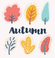 collection of autumn trees vector image