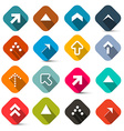 Colorful Flat Design Arrows Set Isolated on White vector image vector image